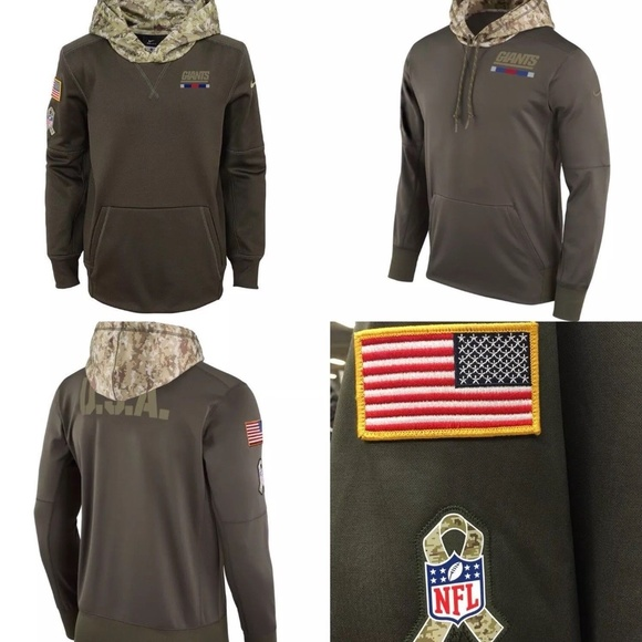 Nike New York Giants Salute to service Hoodie b10fbb6ae